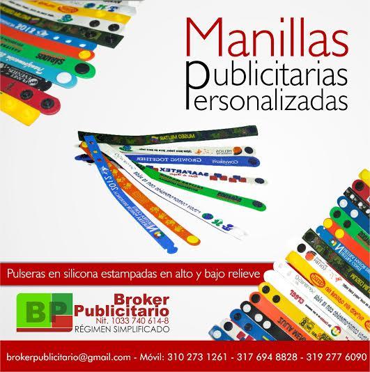Manillas en pvc 2 broches