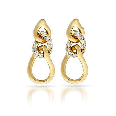 da7147718f35 Aretes en oro amarillo con 16 diamantes. en Cali - Joyas