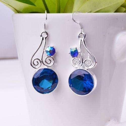 3860e1922366 Aretes en plata con piedras azules en Cali - Joyas