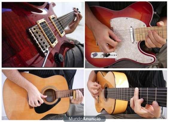 Dicto clases de guitarra eléctrica y clásica a domicilio