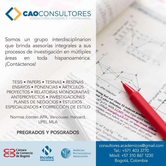 Tesis y asesorías especializadas   cao consultores
