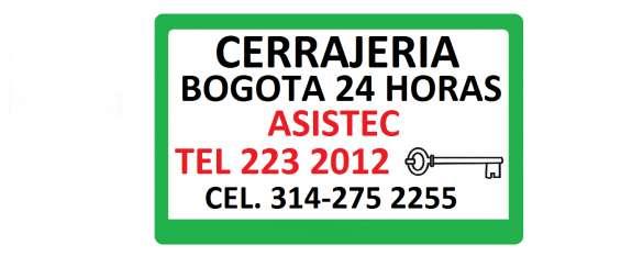 Cerrajeria bogota 24 horas tel 2232252 cel311-873 1536