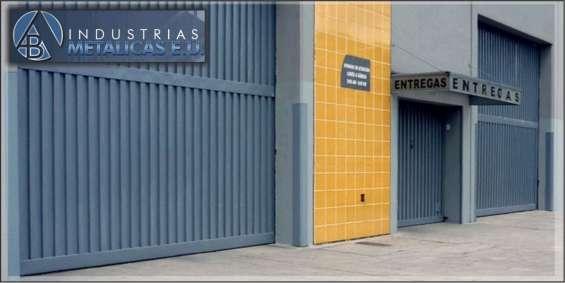 Porttones y puertas metalicas