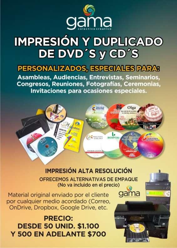 Impresión y multicopiado de cd o dvd