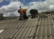 limpieza de techos y arreglo de goteras