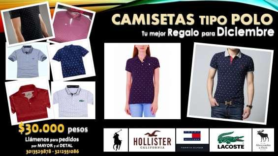 Venta de camisetas tipo polo (5) referencias y converse (2) referencias