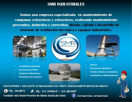 Servicio de mantenimiento de campanas extractoras y extractores