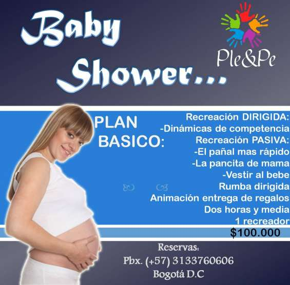 Animacion para baby shower, recreacion,