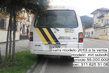 Vans modelo 2013 a la venta