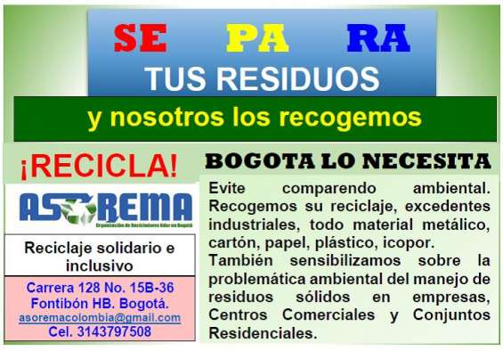 Recogemos materiales reciclables