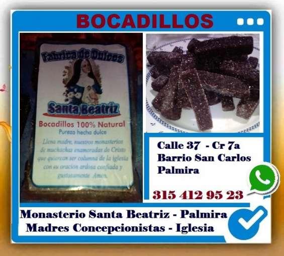 Bocadillos palmira, monasterio santa beatriz, madres concepcionistas, contemplativas y de