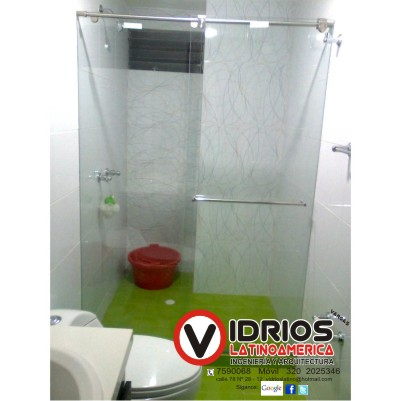 Division de baño en vidrio