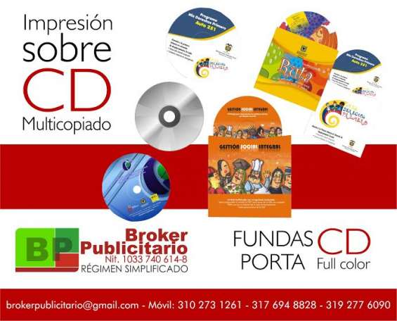 Impresion sobre cd y dvd caratulas full color