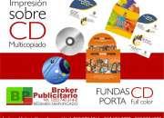 CD DVD IMPRESIÓN DIRECTA MULTICOPIADO, CARATULAS