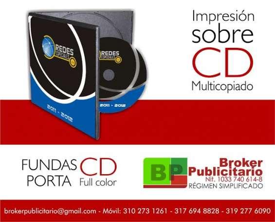Impresion sobre cd y dvd caja plastica con impresion corporativa