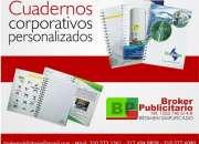 CUADERNOS CORPORATIVOS Y PUBLICITARIOS TAPA DURA ARGOLLADO DOBLE OO