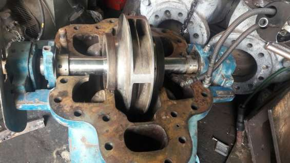 """Bomba centrifuga sin uso de 10""""x8"""" impeler en acero inox."""