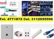 Instalación de redes estructuradas, organización y marquillas de Racks, certificación de