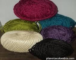 Materia prima de hilo fique y cabuya en todos los colores