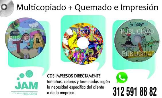 Cds + impresión sobre cd + quemado
