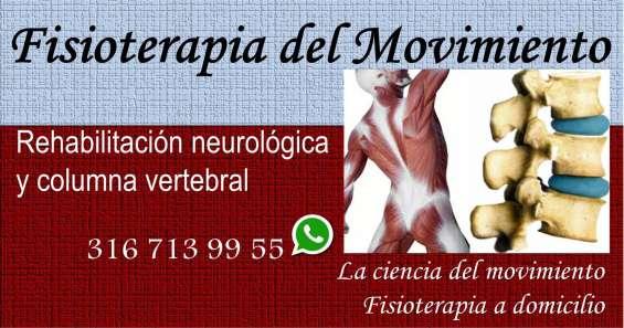 Fisioterapia del movimiento columna vertebral secuelas neurológicas rehabilitación terapia