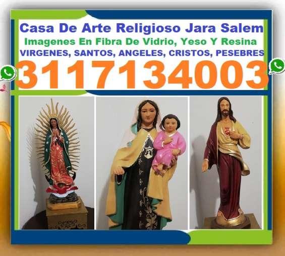 ? imagenes religiosas en yeso, resina, fibra de vidrio, virgenes, santos, angeles, arcange
