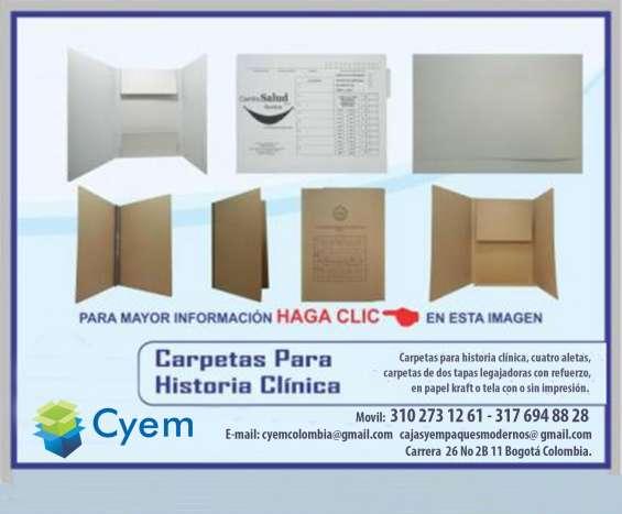Carpetas para archivo general e historia clinica